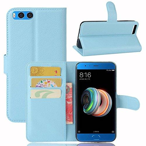Ycloud Custodia Cover per Xiaomi Note3 Pelle Artificiale Portafoglio Tasca Book Folding Custodia in Pelle con Supporto di Stand Cover Case Custodia Pelle con Stilo Penna Blu