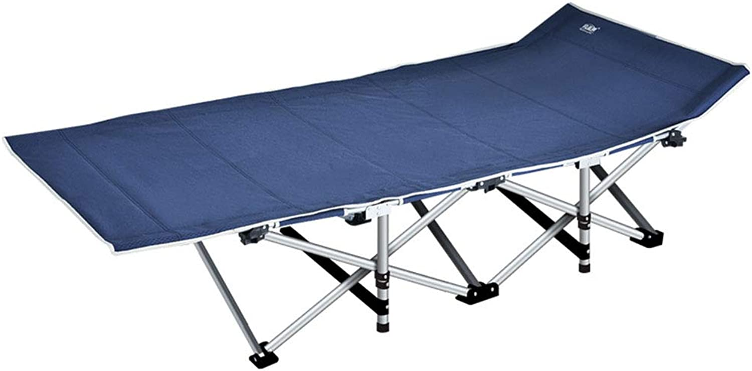 Loungers Folding Bed Office Folding Bed Single Bed Bed Reinforcement Bed Recliner Simple Accompanying Camp Bed Camping Bed (color   blueee, Size   190  67  35cm)