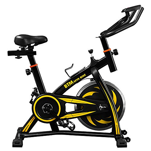 Indoor Cycling Exercise Bike, Red Spin Studio Cycles Machines with Adjustable...