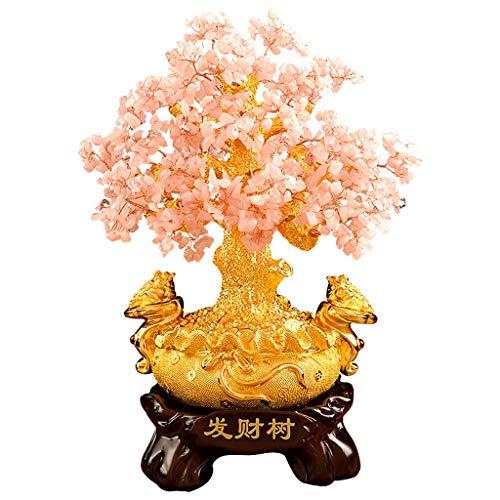 Árbol de cristal Crystal Bonsai fortuna árbol del dinero for la buena suerte, riqueza y prosperidad-Home Office Decor espiritual regalo Feng Shui regalo del Ministerio del Interior vector de la decora