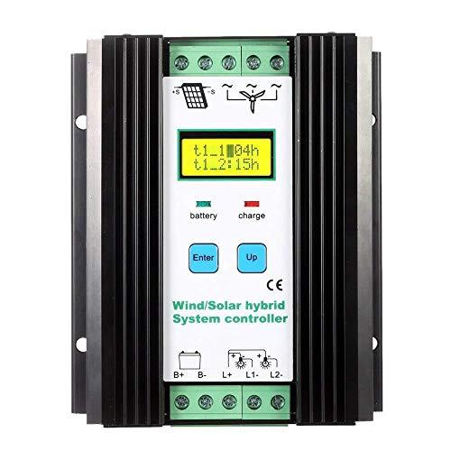 vFound Contrôleur hybride solaire de type haut de gamme 1000W PWM éolien et panneau solaire 12V/24V CC de 600W Wind et 400W identifiant automatiquement la tension du système(PWM)