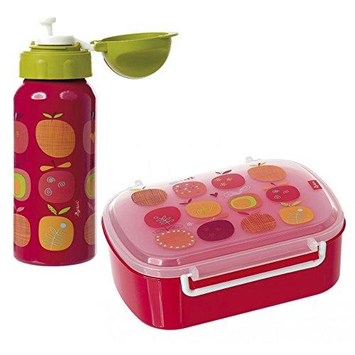 Sigikid Brotdose und Trinkflasche Apfelherz I Geschenkset I Schulkinder