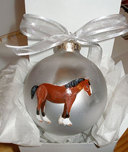 2021 Clydesdale Horse Hand Free shipping on posting reviews Painted Christmas - Person Be Can Ornament