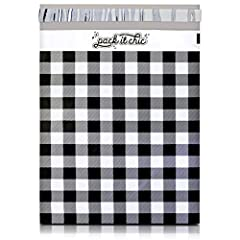 "●Design: Gingham Plaid - 10"" X 13"" Poly Mailer Envelopes - Unpadded (100 Pack). ●The Pack It Chic Standard: Crafted with only the highest quality materials, our shipping envelopes are made to be incredibly durable to resist punctures, tears, and mois..."