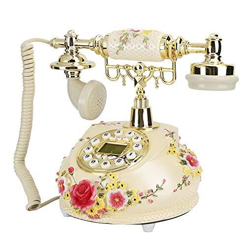 Limouyin Telefono Vintage Antico, MS-525A Resina Innovativo telefono Antico Vintage Classico Europeo per ufficio casa, scrivania con Filo Antico Telefono Decorativo Vintage