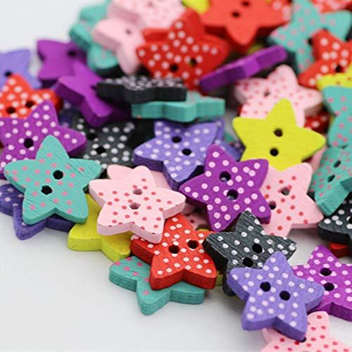 QWERTY Craft Buttons 100 stks houten knoppen diy ambacht voor kinderen kleding naaien accessoires voor baby meisje kleding zomerjurk Scrapbooking ambacht