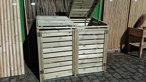 BIHL Mülltonnenbox 2 Tonnen Müllcontainer Müllbox Mülltonnenverkleidung 150 x 126 cm /