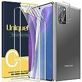 UniqueMe [2 Pack] Protector de Pantalla para Samsung Galaxy Note 20 5G / 4G + [1 Pack] Protector de Lente de Cámara, [Sin Burbujas] HD Film [Flexible]