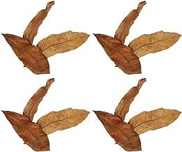 Hemobllo 30pcs Indian Almond Leaves Mini Catappa Leaves for Fish Tanks pH Decreases Stress in Fish Shrimp and Frogs Improv...