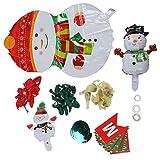 KUIDAMOS Bandera de Papel de Navidad Set Látex + Papel de Aluminio para Navidad