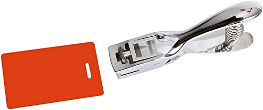 Slot Punch Badge Hole Punch Plier Tool for PVC ID Card Hand Held (Punch)