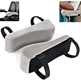 EcoLifeDay Chair Ergonomic armrest Cushions Elbow Pillow Pressure Relief Office Chair Gaming Chair armrest with Memory Foam armrest Pads 2-Piece Set of Chair