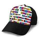 dsgdfhfgjghcdvdf Cappello da Baseball Classico Unisex Generi Musicali Regolabili composti da Cappelli da Golf con Lettere Colorate