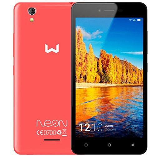 Weimei Neon - Smartphone de 5' (Mediatek Quad Core, cámara Trasera 5 MP, cámara Frontal 2 MP, RAM de 1 GB, Memoria Interna de 16 GB, Dual SIM, WeOS Android 6.0) Rojo