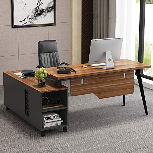 Monarch Specialties Computer Desk L-Shaped Corner Desk with storage - Left or Right Facing - 60