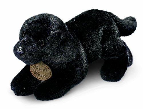 Russ Berrie Yomiko - Perro labrador de peluche (43 cm), color negro
