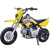 90GJ Moto Fuoristrada da Montagna Piccolo Mini 125CC a Due Ruote da Corsa motociclistico Giallo Non Stradale