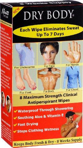 Kleinerts Dry Body Antiperspirant Wipes, 8 Count