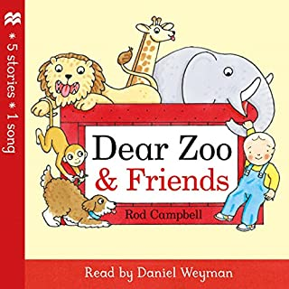 Dear Zoo and Friends                   By:                                                                                                                                 Rod Campbell                               Narrated by:                                                                                                                                 Daniel Weyman                      Length: 1 hr     2 ratings     Overall 5.0