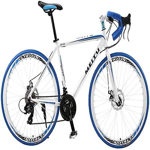 MOME ARoad bici 700C leggero telaio in lega di alluminio 30 velocità city bike adulto corsa telaio in lega di alluminio, peso leggero, ridotta resistenza al vento design
