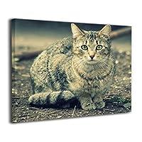 SkyDoor J パネル ポスターフレーム 猫 インテリア アートフレーム 額 モダン 壁掛けポスタ アート 壁アート 壁掛け絵画 装飾画 かべ飾り 50×40