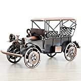 Metal Vintage Car Model, Copper Color, Made of Iron. Size: 7.7x4.1x3.1in / 19.5x10.5x8cm. Weight: 1 lbs. Metal Crafts, Creative Desktop Accessories. Full Handmade with Plating Technology. Some parts of each product may be different, since they are ma...