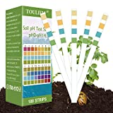 Toulifly Soil Test Kit,Soil pH Test Kit,Soil Test Strips,Soil Testing Kit,Soil pH Test