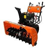 VANLAMP Lanzador de Nieve, Quitanieves Eléctrico a Pequeño de Gasolina con Neumáticos e Iluminación para Calle 6.5 HP 4.8 KW,15hp