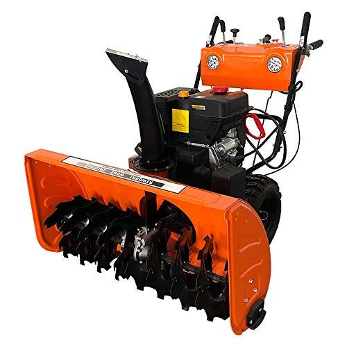 VANLAMP Schneefräse, Benzin Kleine Schneeschieber Maschine mit Reifenschnee und Beleuchtung für Fahrbahn 6.5 PS 4.8 KW,15hp
