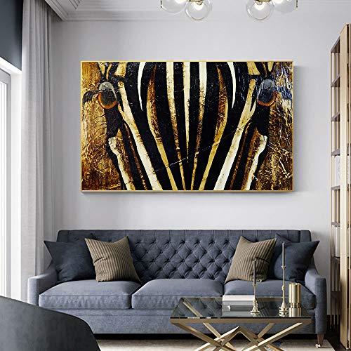 SDFSD Poster Afrikanisches Pferd Bild Tierölgemälde Für Wohnzimmer Wandkunst Leinwanddrucke Wandbilder Moderne Gemälde 80 * 120cm