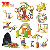 Tinker Toys, NextX 300 Pieces Educational Building Toys, Toy Stem Learning Set for Boys and Girls Ages 3 4 5 6 7 8 9 10 Year Old Enginnering and Educational Kit