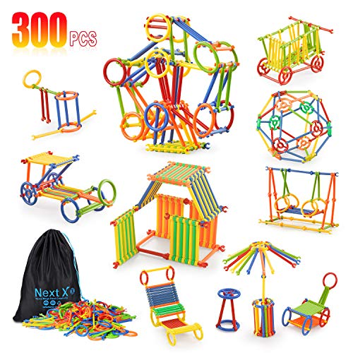 Tinker Toys, NextX 300 Pieces Educational Building Toys, Toy Stem Learning Set...