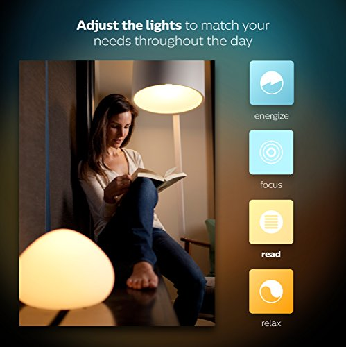 Philips Hue White and Color Ambiance A19 60W Equivalent Smart Bulb Starter Kit (Compatible with Amazon Alexa, Apple HomeKit, and Google Assistant)