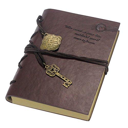 Longra Vintage Magic Key Cuaderno de Cuero Cuaderno de Diario de Libro