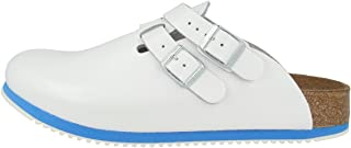 Birkenstock Kay Professional Clog Backstrap Leather White Supergrip Unisex