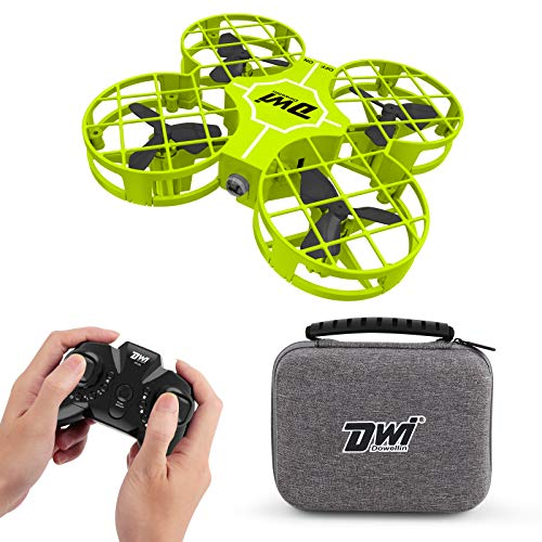 Dwi Dowellin 2.7 Inch Mini Drone for Kids One Key Take Off Landing Spin Flips RC Small Drones for Beginners Boys and Girls Nano Quadcopter Flying Toys, Green