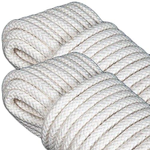 GF Home - Seil - Leine zum Aufhängen der Wäsche - Festmacherleine, Allzweckseil, Strick, Leine, Flechtleine - Baumwolle - Jede Leine 10 Meter Lang - 6 mm - Set von 2