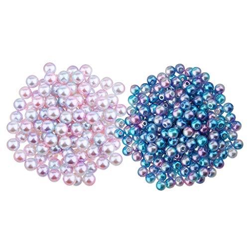 SDENSHI 1000 Piezas de 4 Mm de Color Perlas de Imitación de Plástico Abs Perlas Sueltas Joyas DIY