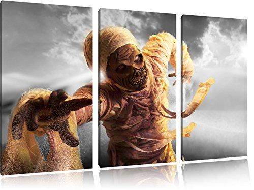 hongerige mummie aanvallenFoto Canvas 3 deel | Maat: 120x80 cm | Wanddecoraties | Kunstdruk | Volledig gemonteerd