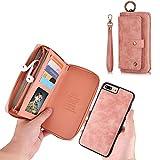 iPhone 7 Plus Wallet Case - JAZ Zipper Purse Detachable...
