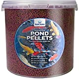 Sakana High Prote<span class='highlight'>in</span> Fish Pellets | Premium Quality <span class='highlight'>Complete</span> Aquatic Food Mixture| Healthy and <span class='highlight'>Natural</span> Daily Feed for <span class='highlight'>Aquarium</span> & Pond Animals | Easily Digestible & A Great Source of Vitam<span class='highlight'>in</span>s (1L)