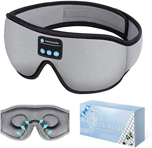 Sleep Headphones Bluetooth Eye Mask 20 28 Adjustable FREGENBO Music 3D Sleep Mask Upgraded Wireless product image