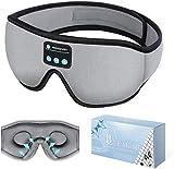 Sleep Headphones Bluetooth Eye Mask, 20-28 Adjustable FREGENBO Music 3D Sleep Mask Upgraded, Wireless Sleeping Headphones for Side Sleepers, HandsFree for Meditation Insomnia Airplane (Grey)