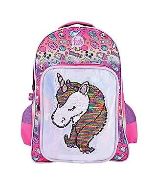 Footy | Mochila Grande Rosa | Línea Unicornio | Mochilas Infantiles para el Colegio | para Niñas Modernas