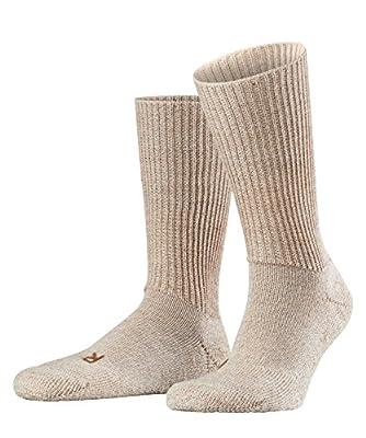 FALKE unisex adult Walkie Ergo trekking hiking socks, Beige (Sand Melange 4490), US 12.5-13.5 EU 46-48 UK 11-12.5