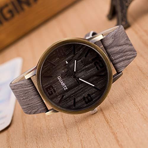 YOFEE WBV AYSMG Pack de 4 Relojes de imitación de Madera de Cuatro dígitos for Hombres y Mujeres (Color : Color2)