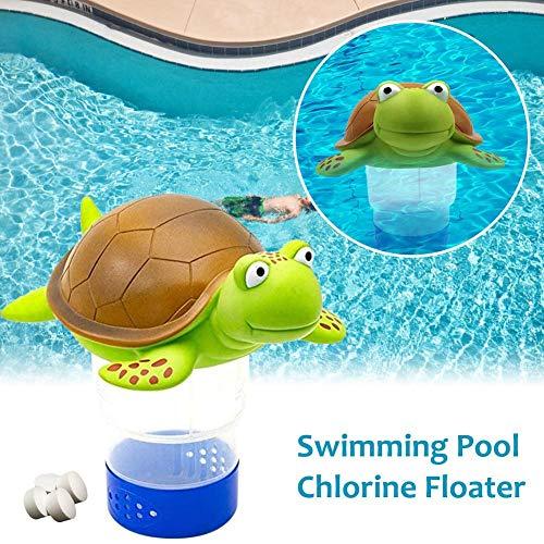 Onlyonehere Dosierschwimmer Chlordosierer Für Pool Schwimmbecken Thermometer Wasserqualität Chlor Tabletten 3 Zoll