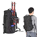Pannow Cylindrical Fishing Tackle Backpack, Large Capacity Polyester Fishing Bags Backpack with Rod...