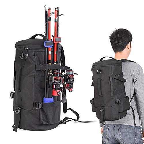 Multi-purpose Fishing Backpack Outdoor Travel Rod Reel Tackle Luggage Bag Z2H8