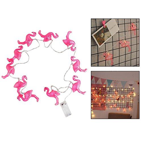 Itian 10 LED Lampen Flamingo für Hochzeit/Weihnachten/Garten Dekoration 1.6m